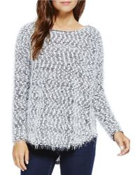 Two By Vince Camuto - Eyelash Boucle Shirttail Jumper - Lyst