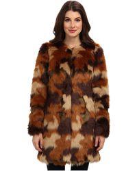 MICHAEL Michael Kors Faux Fur Coat - Lyst