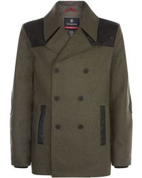 Victorinox - Double Breasted Pea Coat - Lyst