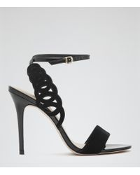 Reiss Lyla Laser-Cut Sandals - Lyst