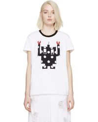 Mother Of Pearl White Oversized Applique T_Shirt - Lyst