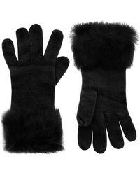 Kurt Geiger - Fur Knitted Gloves - Lyst