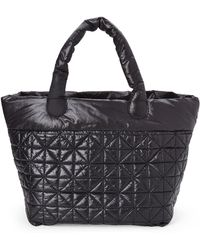 Nila Anthony - Black Quilted Nylon Travel Tote - Lyst