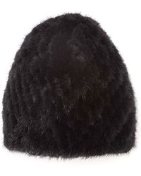 Pologeorgis - The Knit Mink Black Skully - Lyst