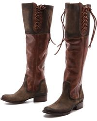 Freebird By Steven West Over The Knee Boots - Taupe - Lyst