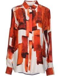 Celine Shirt orange - Lyst