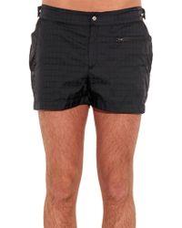 Make Your Odyssey - Dive 1 Trident-jacquard Swim Shorts - Lyst