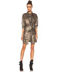 Isabel Marant Pasadena Lurex Georgette Dress - Lyst