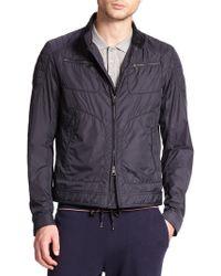 Moncler Zip-front Flight Jacket blue - Lyst