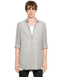 Perdre Haleine Gingham Techno Seersucker Shirt - Lyst