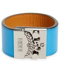 MCM - 'karolina' Push Lock Bracelet - Tile Blue - Lyst