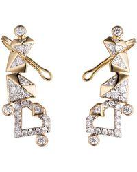 Diamonds Unleashed - #she'sbrilliant Pavé Diamond Climber Earrings - Lyst