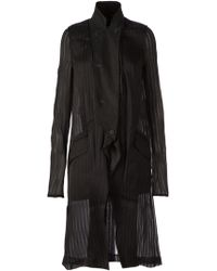Lost & Found - Sheer Striped Coat - Lyst