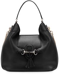 Gucci Emily Leather Hobo Bag - Lyst