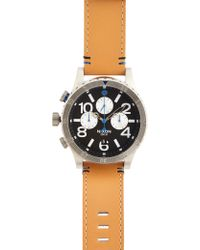 Nixon 4820 Chrono Leather Watch - Lyst
