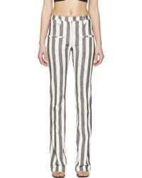 Altuzarra Black And Ivory Striped Trousers - Lyst