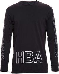 Hood By Air Logo Print Cotton Long Sleeve Tshirt - Lyst