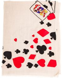 Janavi Cards Embroidered Cashmere Scarf - Lyst