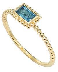 Lagos 'Covet' Baguette Stone Caviar Stack Ring blue - Lyst