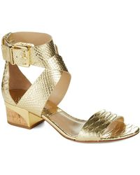 Michael Kors Tulia Metallic Sandals - Lyst