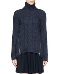 See By Chloé Cable Knit Turtleneck Sweater - Lyst