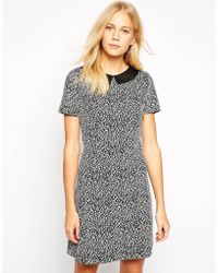 Oasis 60'S Textured Shift Dress - Lyst