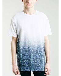 Topman Tapestry Hem Oversized Fit T-shirt - Lyst