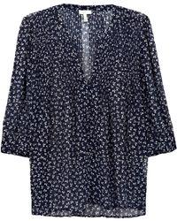 Joie Laurel Floral-Print Silk Blouse - Lyst