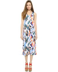 Carven Printed Tank Dress - Multi - Lyst