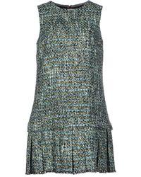 Dolce & Gabbana Short Dress blue - Lyst