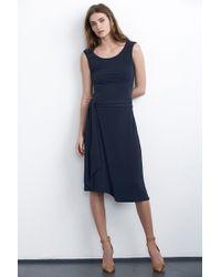 Velvet By Graham & Spencer Tessie Wrap Skirt Dress blue - Lyst