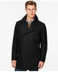 Marc New York - Big & Tall Double Breasted Mulberry Coat - Lyst