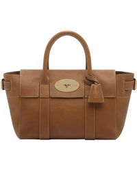Mulberry Small Bayswater Buckled Leather Bag - Lyst