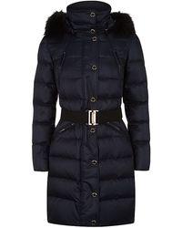 Burberry London Abinger Fur Trim Puffer Coat - Lyst