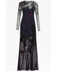 French Connection | black Wednesday Embroidered Maxi Dress | Lyst