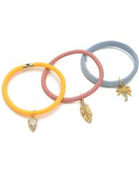 Juicy Couture - Set Of 3 Hair Elastics Mali Blue - Lyst
