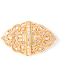 Yves Saint Laurent Vintage Glam Crystal Brooch - Lyst