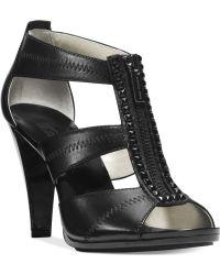 Michael Kors Michael Berkley T-strap Sandals - Lyst