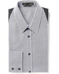Alexander McQueen Harnessdetailed Herringboneweave Cotton Shirt - Lyst