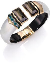 Alexis Bittar Sport Deco Embellished Lucite Cuff Bracelet gold - Lyst
