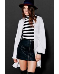 Silence + Noise - Wide-Ribbed Open Cardigan Sweater - Lyst