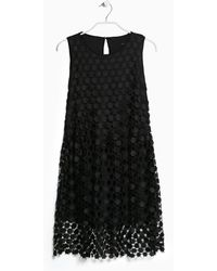 Mango Rhombus-pattern Openwork Dress - Lyst