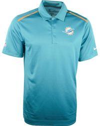 Nike Mens Miami Dolphins Dri-fit Polo - Lyst