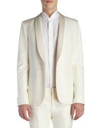 Saint Laurent Satin-trimmed Tuxedo Suit - Lyst