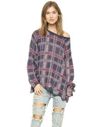 Wildfox Allover Plaid Sweater  - Lyst