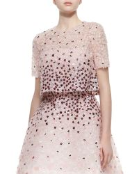 Monique Lhuillier - Sequined Floral-embroidered Split-back Jacket - Lyst