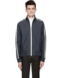 Costume National Slate Dot_Embossed Track Top - Lyst