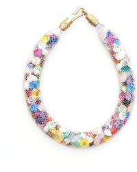 Peppercotton - Rainbow Swarovski Crystal Bracelet - Lyst