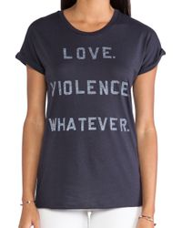 Zoe Karssen Love Violence Whatever Tee - Lyst
