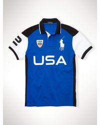 Polo Ralph Lauren Custom-fit Usa Polo Shirt - Lyst